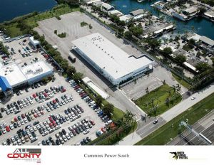 Aerial-view-of-Pavement-repair-project-at-Cummins-Power-West-Palm-Beach-FL
