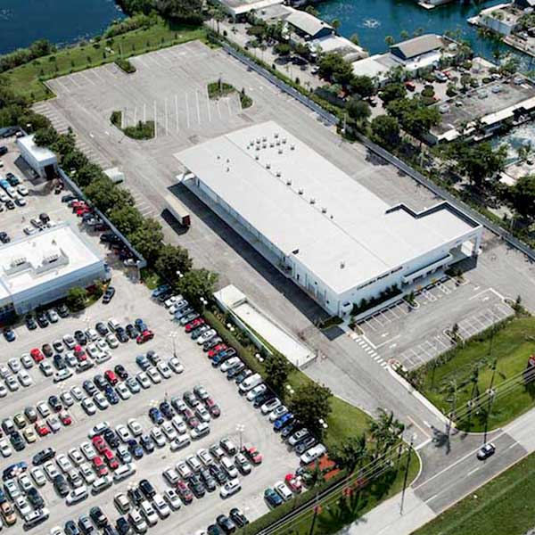 Aerial View Of Pavement Repair Project At Cummins Power West-Palm Beach FL
