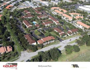 Aerial-view-of-an-HOA-Paving-project-Hollywood-FL