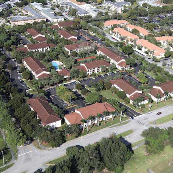 Aerial View of An HOA Paving Project Hollywood FL