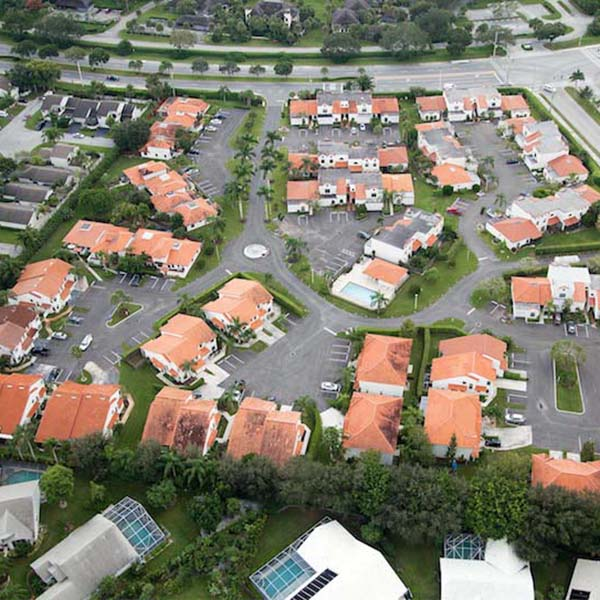 Apartment Condo parking lot repair aerial image Wellington FL