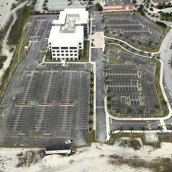 Parking Lot paving aerial view Pembroke Point